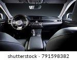 dark luxury car interior  ...   Shutterstock . vector #791598382