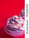 Close Up Two Cupcakes With...