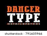 decorative slab serif font in... | Shutterstock .eps vector #791605966