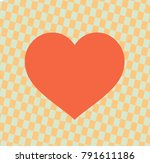 heart icon isolated on... | Shutterstock .eps vector #791611186