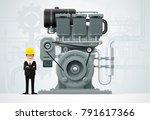 factory industrial machine...   Shutterstock .eps vector #791617366