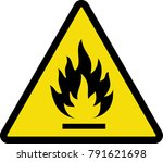 flammable icon  flammable sign  ... | Shutterstock .eps vector #791621698