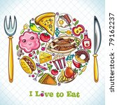 food plate | Shutterstock .eps vector #79162237