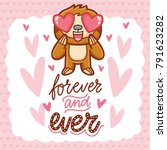cute sloth character with... | Shutterstock .eps vector #791623282