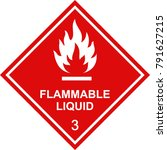 flammable liquid sign red square | Shutterstock .eps vector #791627215