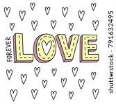 love background design | Shutterstock .eps vector #791632495