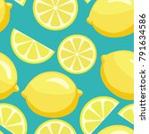 juicy tropical lemon background.... | Shutterstock .eps vector #791634586