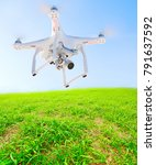 drone with camera. new tool for ... | Shutterstock . vector #791637592