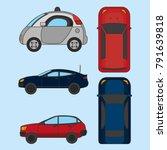 autonomus car design | Shutterstock .eps vector #791639818