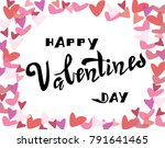 happy valentines day card... | Shutterstock .eps vector #791641465