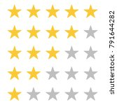 five star rating. rate status...   Shutterstock .eps vector #791644282
