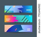 vector abstract design banner.... | Shutterstock .eps vector #791646982