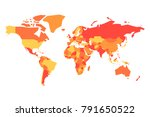 political map of world.... | Shutterstock .eps vector #791650522