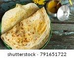 puran poli   holige  obbattu  ... | Shutterstock . vector #791651722