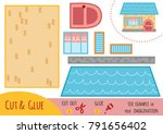 education paper game for... | Shutterstock .eps vector #791656402