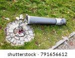 streetlight broken lamp by... | Shutterstock . vector #791656612