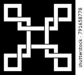 oriental knot vector...   Shutterstock .eps vector #791658778