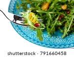 fresh salad with rocket ...   Shutterstock . vector #791660458