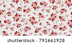 seamless floral pattern in... | Shutterstock .eps vector #791661928