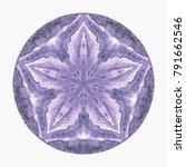 colorful watercolor mandala.... | Shutterstock . vector #791662546