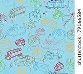 vector seamless pattern of boy... | Shutterstock .eps vector #79166584