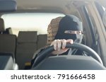 saudi woman driving a car in... | Shutterstock . vector #791666458
