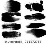 grunge paint stripe . vector... | Shutterstock .eps vector #791672758