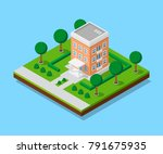 picture of appartent house with ... | Shutterstock .eps vector #791675935