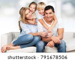 portrait of a happy family... | Shutterstock . vector #791678506