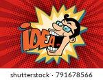 idea and man  the joyful... | Shutterstock .eps vector #791678566
