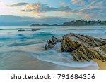 rocky sunrise seascape   taken... | Shutterstock . vector #791684356