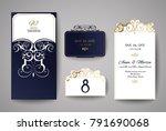 wedding invitation or greeting... | Shutterstock .eps vector #791690068