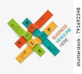 vector business creative 3d... | Shutterstock .eps vector #791692348