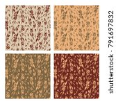 set of seamless patterns with...   Shutterstock .eps vector #791697832