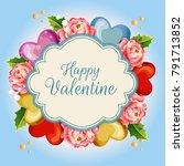 camellia valentine illustration ... | Shutterstock .eps vector #791713852
