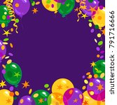 mardi gras carnival background... | Shutterstock .eps vector #791716666
