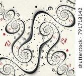 abstract modern clock spiral... | Shutterstock . vector #791718142