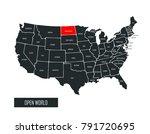 usa vector map | Shutterstock .eps vector #791720695