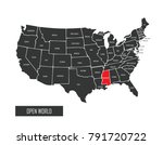 usa vector map | Shutterstock .eps vector #791720722