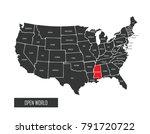 usa vector map | Shutterstock .eps vector #791720722