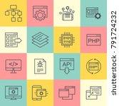 api technology interactive... | Shutterstock .eps vector #791724232