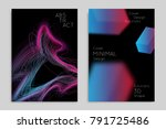 abstract banner template with... | Shutterstock .eps vector #791725486