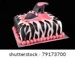 High Heel Shoe On Zebra Print...