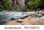 river cutting through a canyon | Shutterstock . vector #791740072