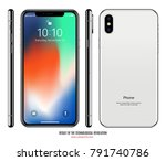 smartphone in iphone style... | Shutterstock .eps vector #791740786