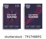 electronic music poster. modern ... | Shutterstock .eps vector #791748892