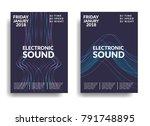 electronic music poster. modern ... | Shutterstock .eps vector #791748895