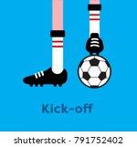 soccer game kick off | Shutterstock .eps vector #791752402