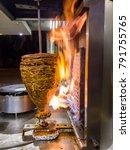 mexican food  trompo pastor  ...   Shutterstock . vector #791755765