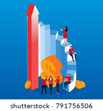 concept business development | Shutterstock .eps vector #791756506